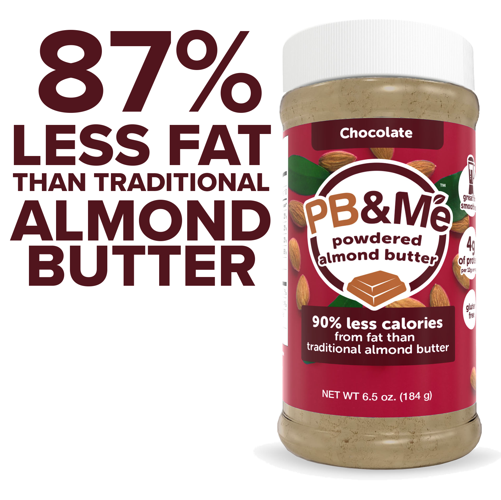 Powdered Almond Butter, Chocolate, 6.5oz