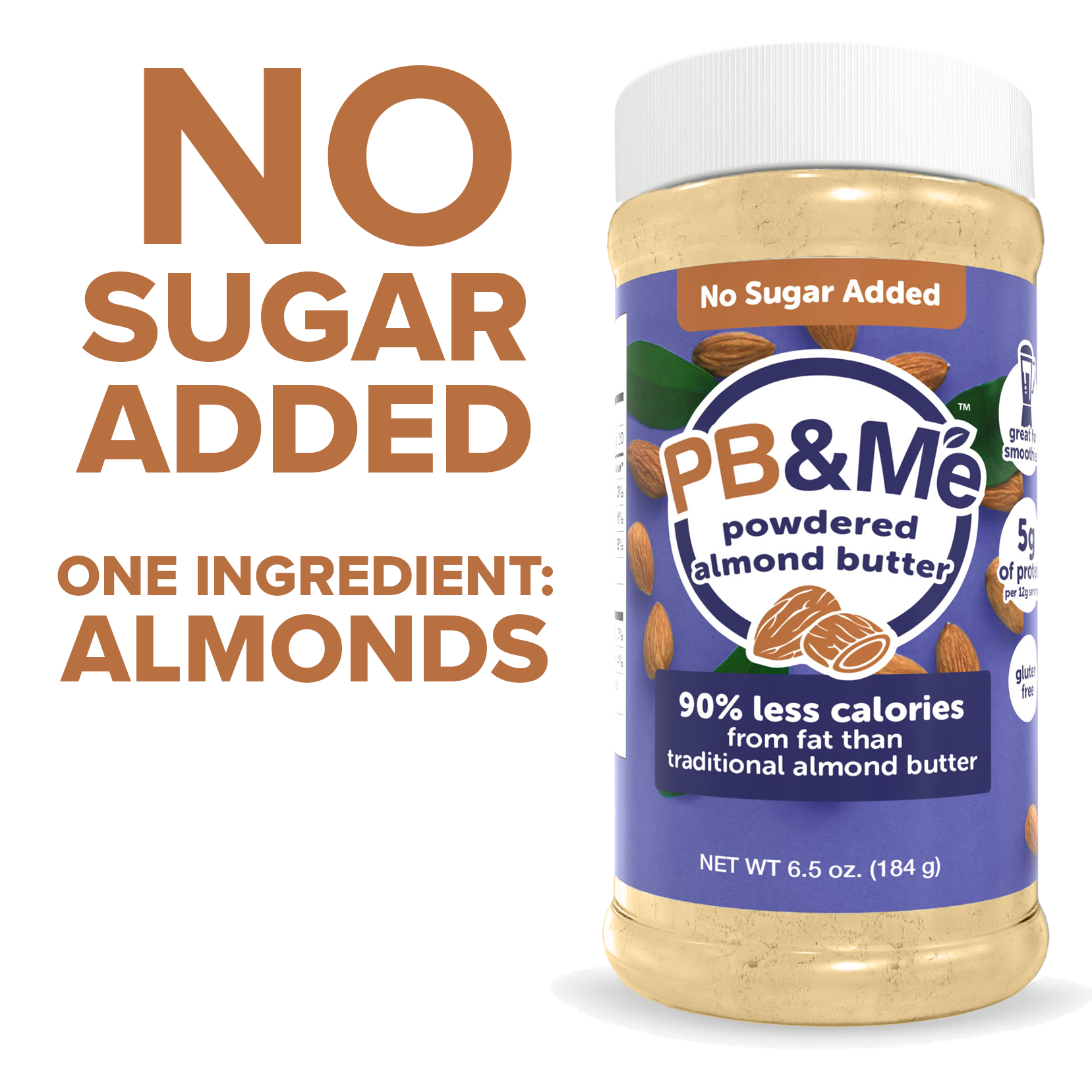 Powdered Almond Butter - No Sugar Added (6.5oz)