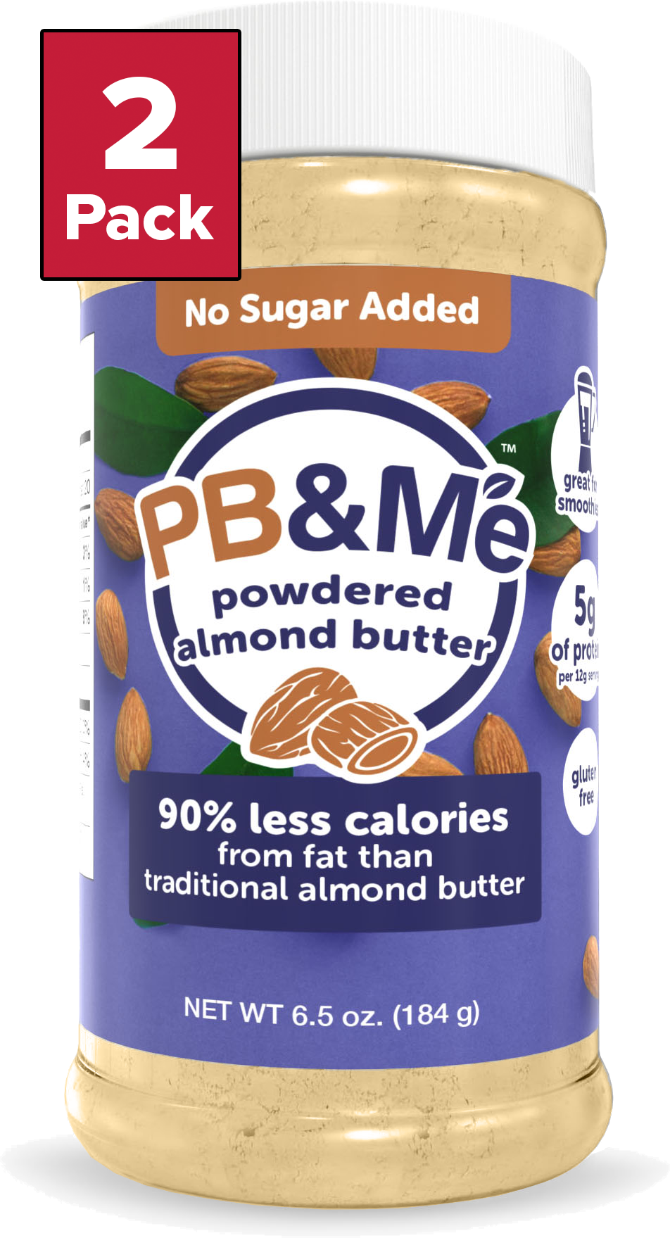 Powdered Almond Butter, No Sugar Added, 6.5oz