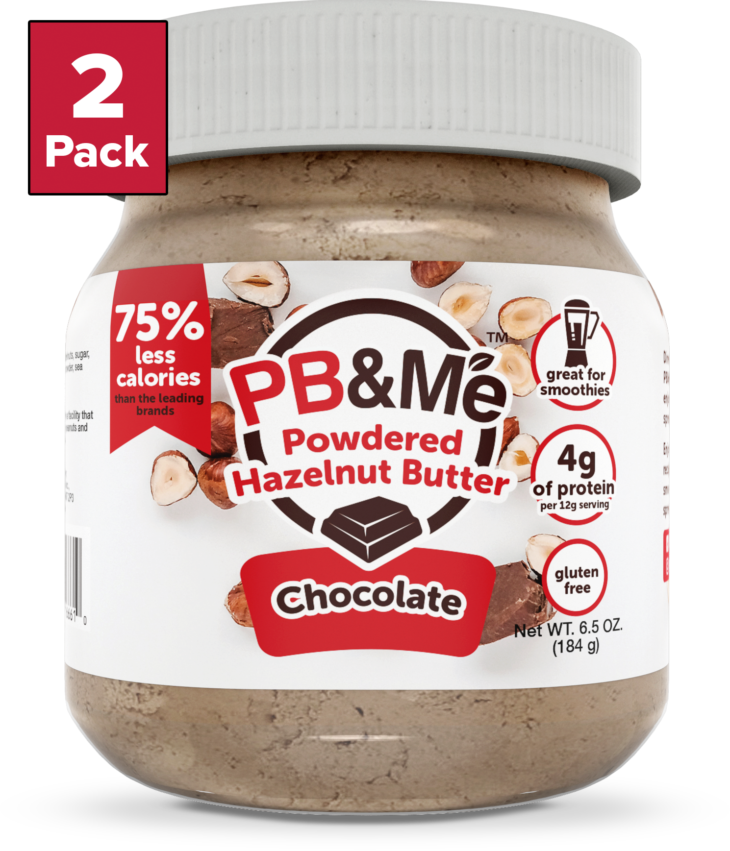 Powdered Hazelnut Butter, Chocolate, 6.5oz