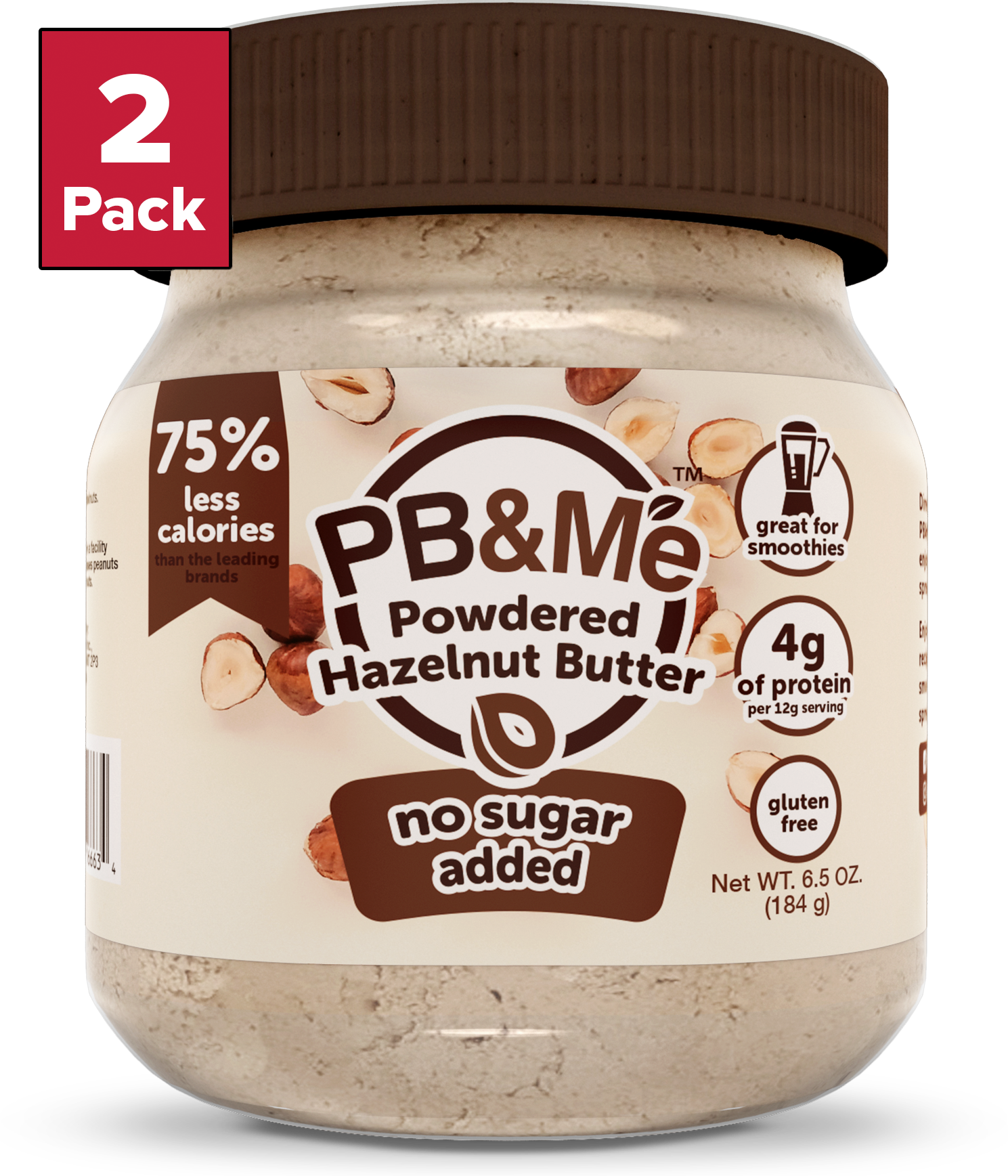 Powdered Hazelnut Butter - No Sugar Added (6.5oz)