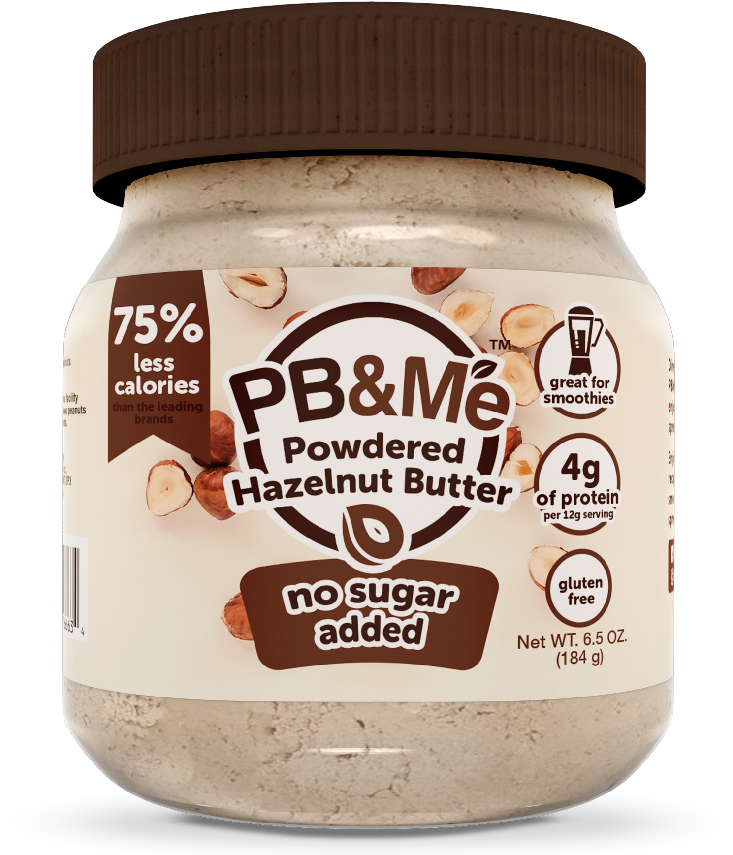 Powdered Hazelnut Butter, No Sugar Added, 6.5oz