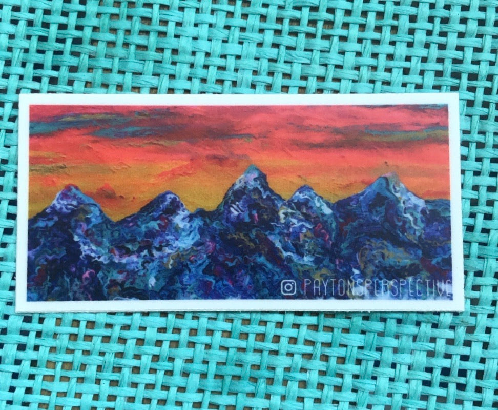 Teton Range Sticker