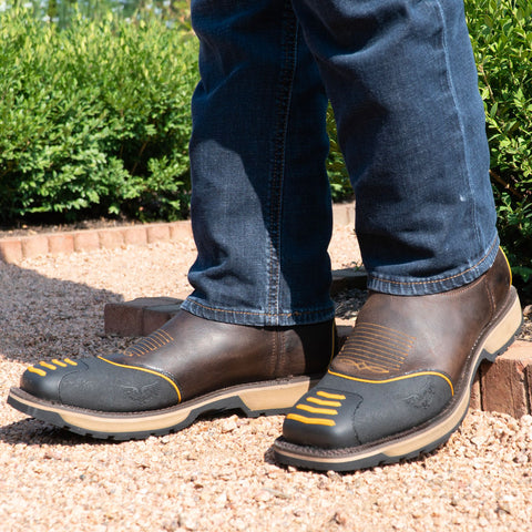 Rubber Safety Toe Cowboy Work Boots | Protected Toe Western Boots (H4006) - Soto Boots