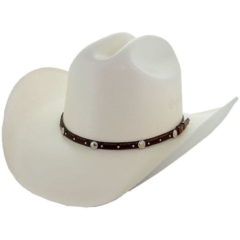 Soto Boots 50X Straw Cowboy Hat- S106 with Tan Band Angle