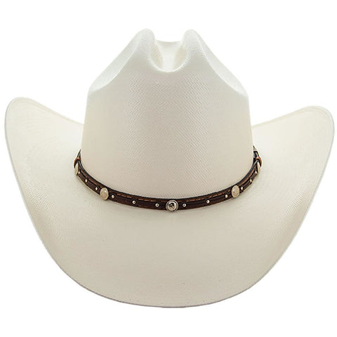 Soto Boots 50X Straw Cowboy Hat- S106 with Tan Band Front