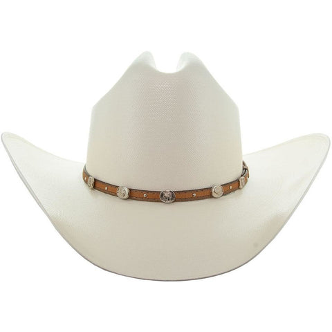 Soto Boots 50X Straw Cowboy Hat- S106 with Brown Band Front