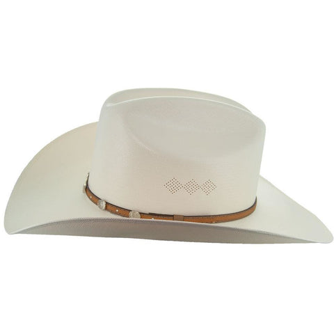 Soto Boots 50X Straw Cowboy Hat- S106 with Brown Band Side