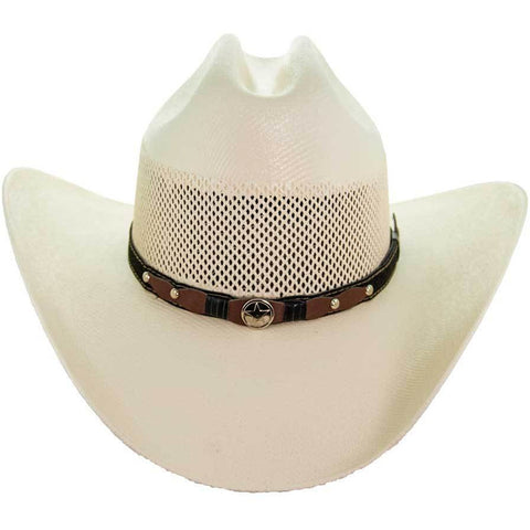 Soto Boots 50X Straw Cowboy Hat- S104 Front