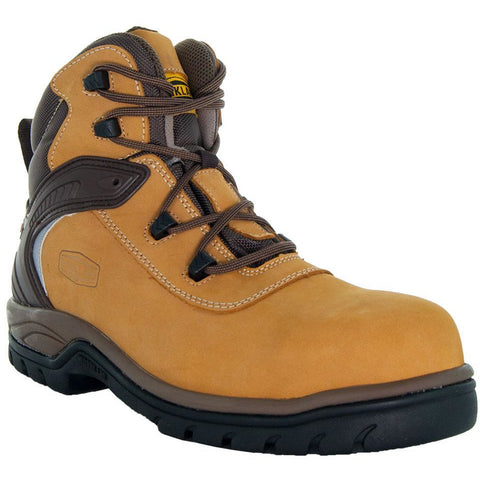 Steelton Men's Leather Work Boots 77443 in Wheat Main View