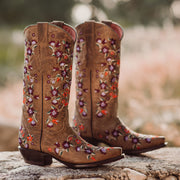 Flower Cowgirl Boots | Floral Fantasy Cowgirl Boots (M50031) - Soto Boots