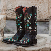 Wildflower Boots | Floral Embroidered Cowgirl Boots (M50030) - Soto Boots
