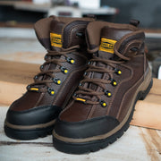 Men's Lace Up Work Boots | Cushioned Workland Boots (77403)