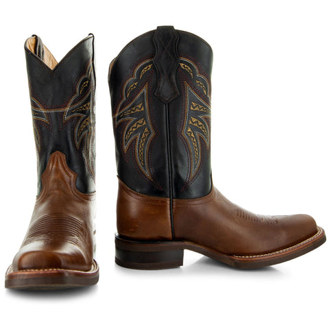 Rubber and Leather sole of Brown Square Toe Cowboy boots