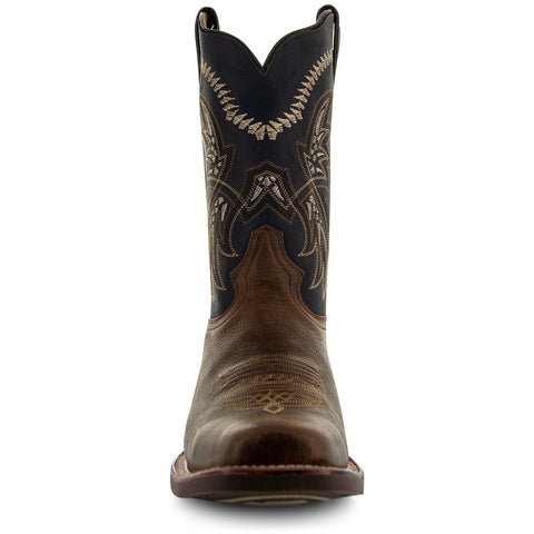 Square Toe Leather Sole Cowboy Boots H4002 - Soto Boots