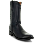 Black Roper Boots with Side Zipper Main View