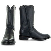 Black Roper Boots with Side Zipper 2 Boots
