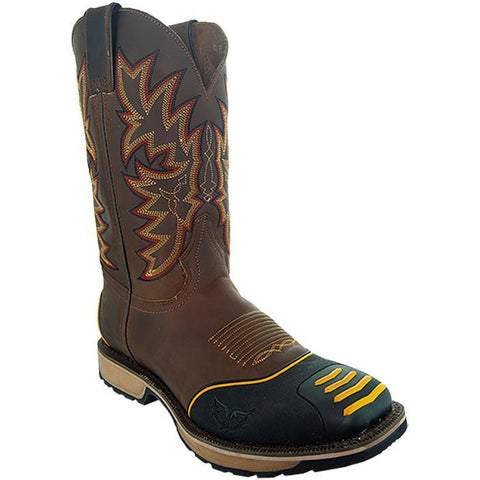 Soto Boots Men's Protected Toe Western Work Boots H4006 Tan Main