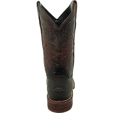 Soto Boot's Rugged Square Toe Cowboy Boots H4009 Brown Square Toe Boots Back