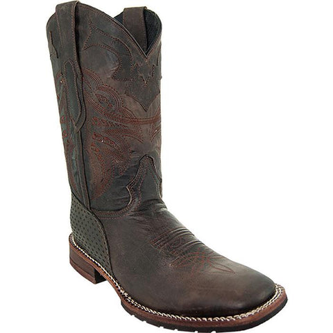 Soto Boot's Rugged Square Toe Cowboy Boots H4009 Brown Square Toe Boots Main