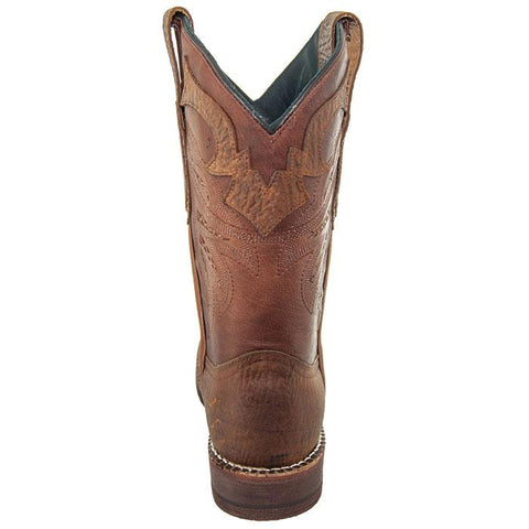 Soto Boots Tan Rugged Square Toe Cowboy Boot H4010 Tan Back