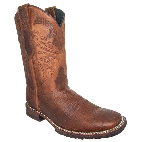 Rebel Men's Tan Rugged Square Toe Cowboy Boots H4010