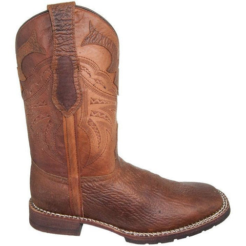 Soto Boots Tan Rugged Square Toe Cowboy Boot H4010 Tan Side