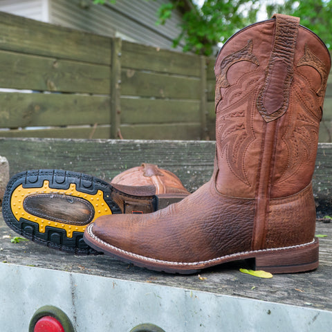Rugged Square Toe Cowboy Boots | Rebel Men's Boots (H4010)