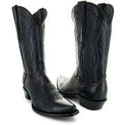 Soto Boots Burnished Black Snip Toe Cowboy Boots H50030