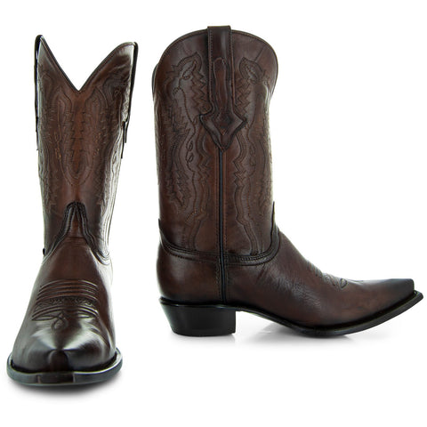 Soto Boots Burnished Brown Snip Toe Cowboy Boots H50030