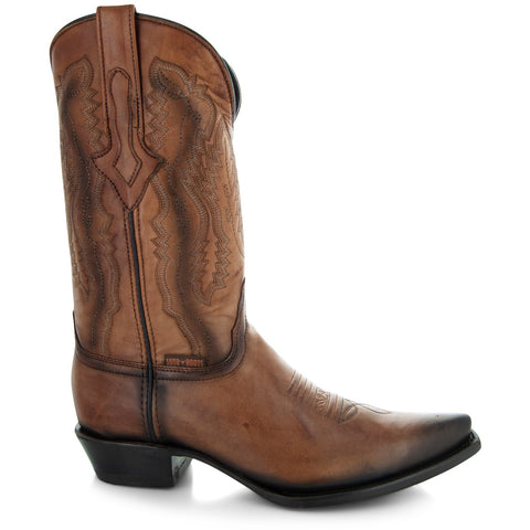 Soto Boots Burnished Tan Snip Toe Cowboy Boots H50030