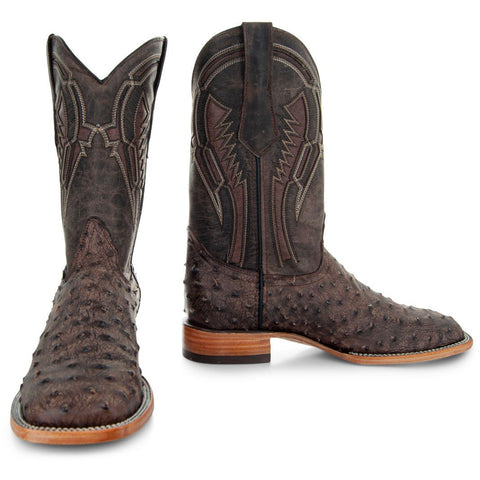 Soto Boots Mens Out of the Wild Brown Ostrich Print Boots H50031