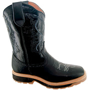 Men's Square Toe Western Style Work Boots H6002