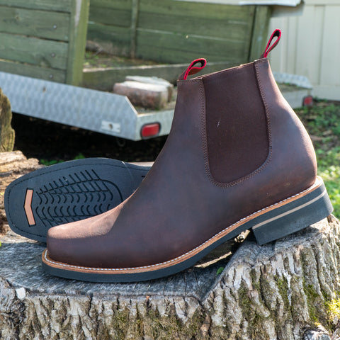 Square Toe Chelsea Boots for Men (H6003) | Soto Boots