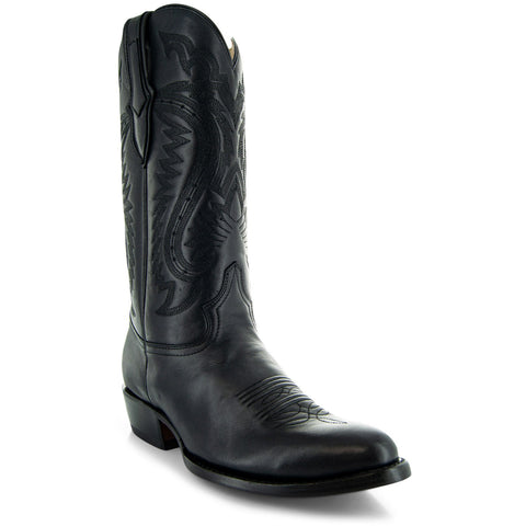 Main Picture of Mens Cowboy Boot H7001 in Black