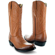 Main Picture of Mens Cowboy Boot H7001 in Tan