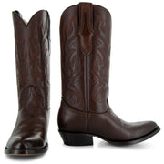 Pair of Brown cowboy boots H7001 Mens Round Toe Western Boots