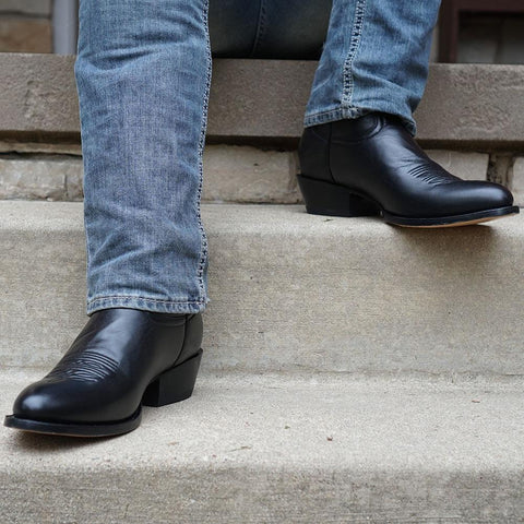 Mens Classic Round-Toe Boots (H7001