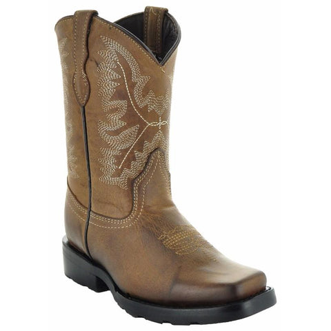 Square Dance Kids' Western Boots-Brown