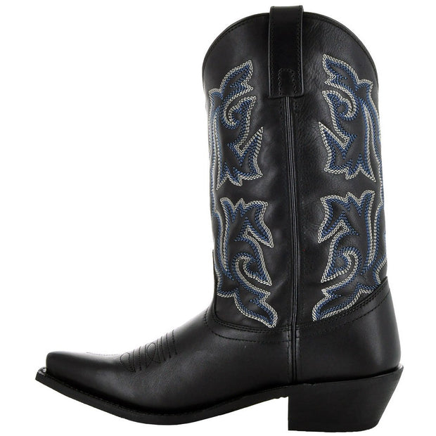 Womens Leather Snip Toe Cowgirl Boots