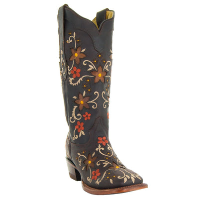 Soto Boots Camellia Women's Floral Square Toe Cowgirl Boots M4001