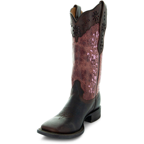 Pretty in Pink WomenÕs Embroidered Cowgirl Boots by Soto Boots M4004