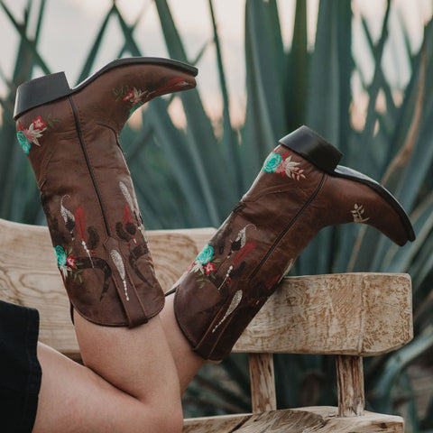 Longhorn Cowgirl Boots | Women's Longhorn Fashion Boots (M50029) - Soto Boots