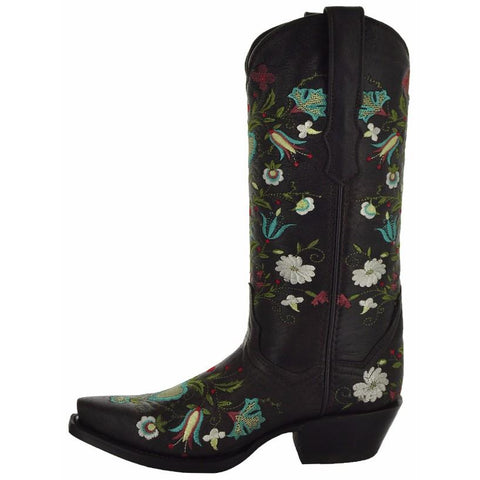 Wildflower Embroidered Women's Cowgirl Boots
