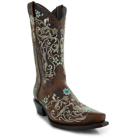 Soto Boots Womens Vintage Flower Embroidery Cowgirl Boots M50042