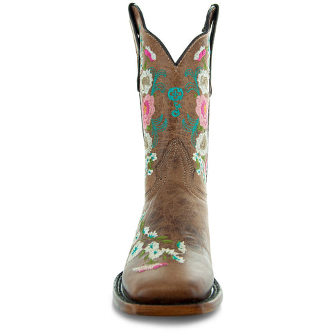 Jasmine Women's Square Toe Floral Cowgirl Boots M50043