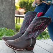 Ana Vaquera Western Boots | Women's Embroidered Square Toe Cowgirl Boots (M9002) - Soto Boots