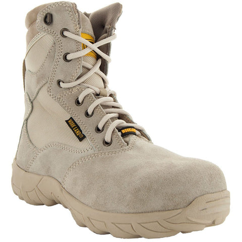 Sand Tactical Leather and Nylon Men's Military Style Work Boots 76241 with Rubber Soles and Composition Toe Main View