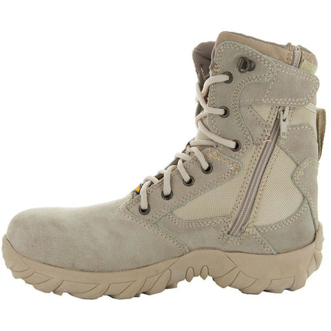 Sand Tactical Leather and Nylon Men's Military Style Work Boots 76241 with Rubber Soles and Composition Toe Side View