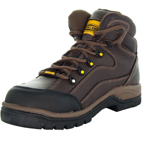 Brown,High Top ankle, Brown Shoe Lace, Oil Resistant, Terrain Men's Work Boots 77403 Side View, Alt View